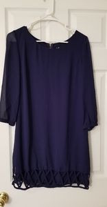 Navy 3 quarter sleeve dress